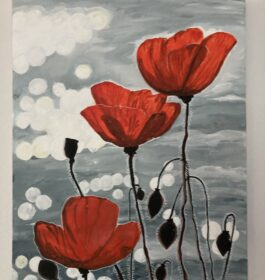Poppies at the Water's Edge