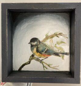 Shadow Box Chickadee