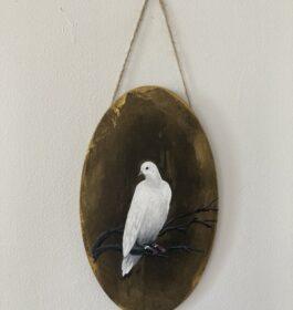 Portrait of a Dove (bronze background)