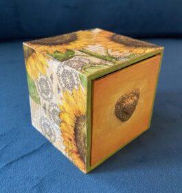 Sunflower Decoupage Drawer Box