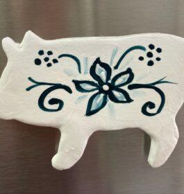 Delft Pig Magnet #1