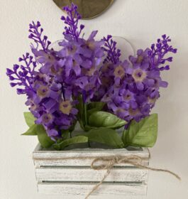 Lilac Wall Box