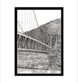 Bear Mountain Bridge, Pen and Ink Print