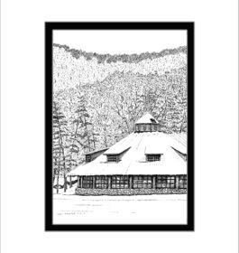 Bear Mountain Carousel, Pen and Ink Print