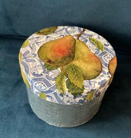 Pear & Denim Decoupaged Keepsake Box