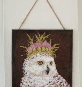 Owl Queen Decoupage