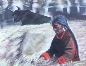 """""""Out in the Field"""" Original Pastel by Shawn Dell Joyce"""