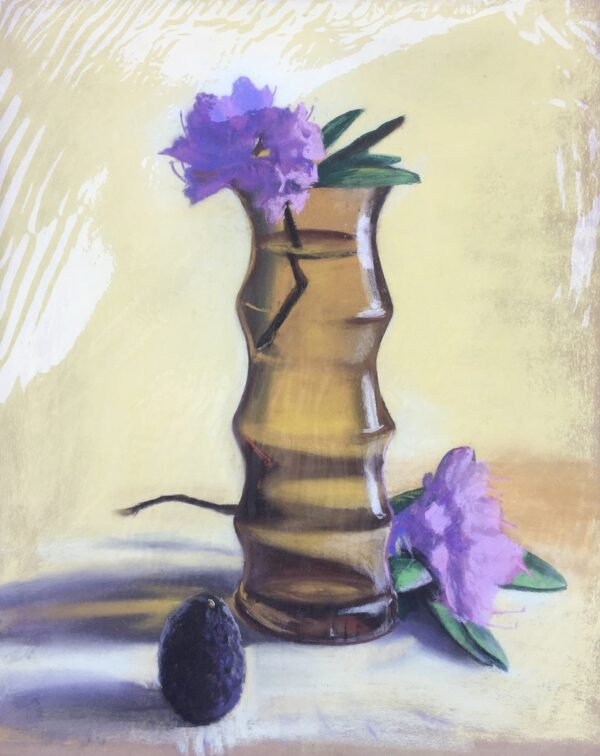 """""""Rhododendron and Avocado"""" Original Pastel by Shawn Dell Joyce"""