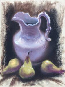 """Three Pears"" Original Pastel by Shawn Dell Joyce"