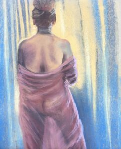 """Peeking at the Sun"" Original Pastel by Shawn Dell Joyce"