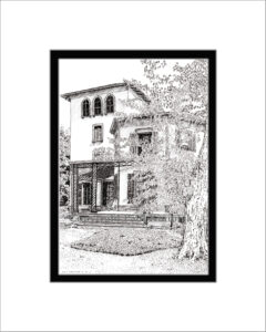 Kmiotek Art Works - Locust Grove, Samuel Morse House, Pen and Ink Print