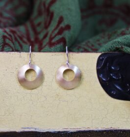 Brass Domed Earrings