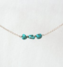 Turquoise and Pyrite Necklace