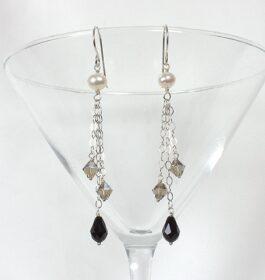Jet Drop Earrings