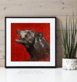 Black Bear on Red