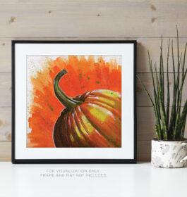Pumpkin on Orange