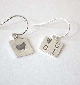 Wool Stamped Earrings