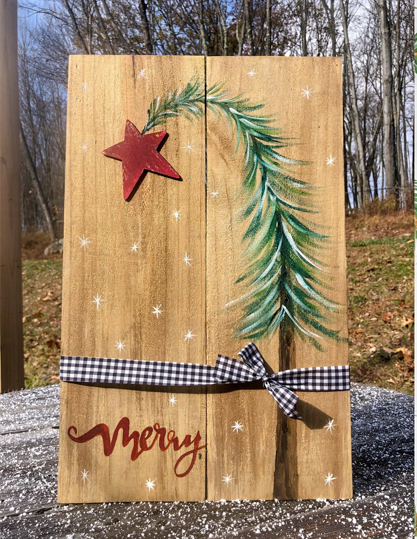Merry Tree Pallet Painting- Finding Home Farms