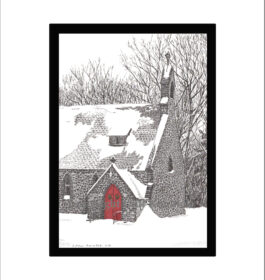 Gloria Dei Church, Palenville, NY, Pen and Ink Print
