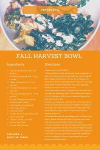 Fall Harvest Bowl Recipe by Esther Ban
