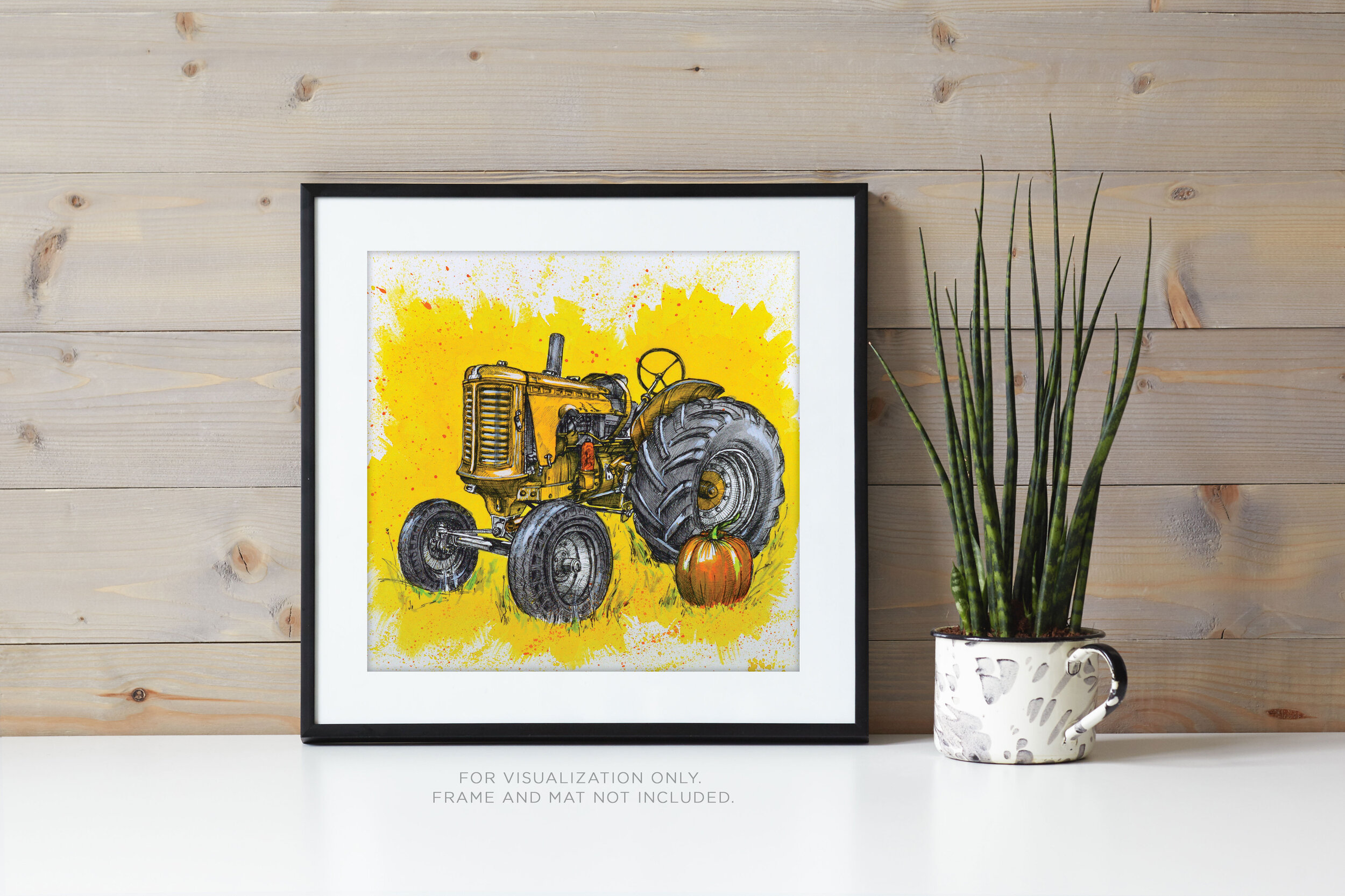Tractor in Yellow