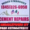 MASONRY REPAIRS CEMENT BRICK BLOCK AND MORE!
